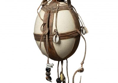 Object made of Ostrich Egg and Decorated with Cowrie Shells