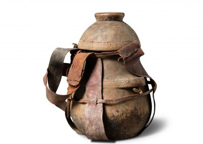 Vessel with Leather Strap